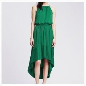 Banana Republic Emerald High/Low Halter Dres